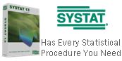 Systat has been declared the most capable and nimble Windows statistics and analytical graphics package currently available.